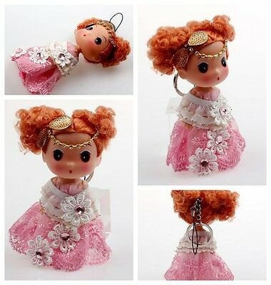 Hot Korea Pink Pendant Cute Mini Ddung Doll Phone Backpack Keychain Lively Child