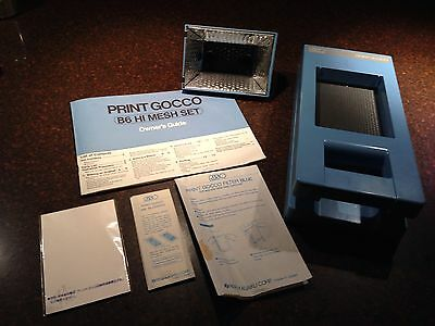 RISO Print Gocco B6 Hi Mesh Set High Resolution Screen Multi Color Printer