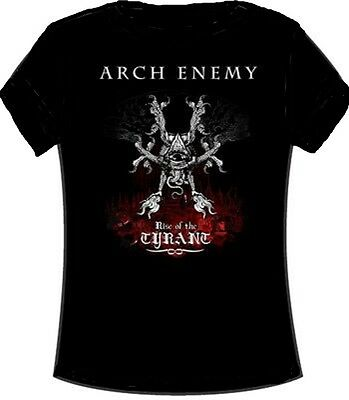 ARCH ENEMY - Rise Of A Tyrant - Girlie Girl Damen Woman Shirt - Größe Size L