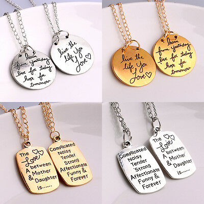 Inspiration quotes words mother daughter love reversible charm inspiration quotes words mother daughter love reversible charm pendant necklace aloadofball Images