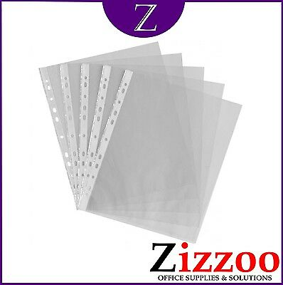 A4 Punched Pockets Plastic Wallets Sleeves For Filing Various Quantities