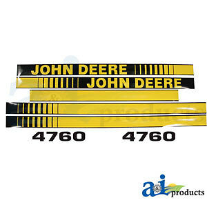 John Deere Parts DECAL SET HOOD  JD4760 4760