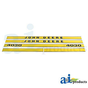 John Deere Parts DECAL SET HOOD  JD4030 4030