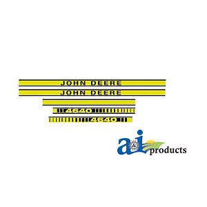 John Deere Parts DECAL SET HOOD  JD4640 4640