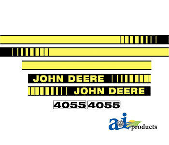 John Deere Parts DECAL SET HOOD  JD4055 4055