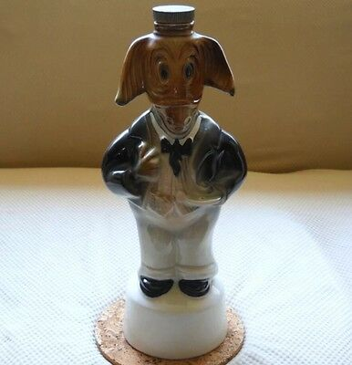 Jim Beam 100 Months DEMOCRAT DONKEY Bourbon Ceramic Decanter 1960 Empty