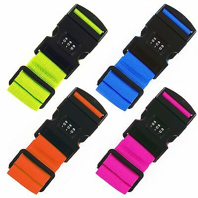 Adjustable Combination Luggage Suitcase Straps Travel Baggage Tie Down Belt Lock