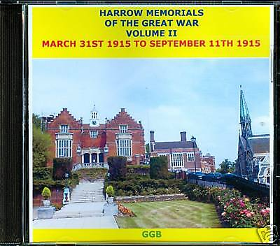 Harrow Memorials Of The Great War Volume Ii
