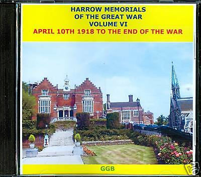 Harrow Memorials Of The Great War Volume Vi