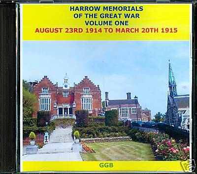 Harrow Memorials Of The Great War Volume I