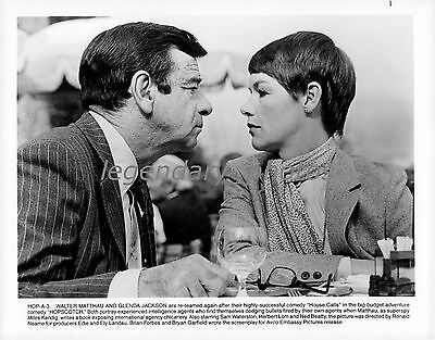 1980 Hopscotch Movie Press Photo - Walter Matthau and Glenda Jackson