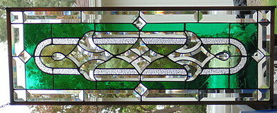 """Stained Glass Window Transom or Sidelight Hanging 32 1/8 X 12"""""""