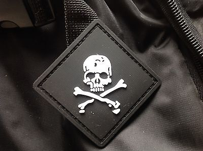 Black Skull 3D Tactical Army Morale Pvc Rubber Patch