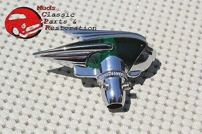 Vintage Classic Custom Car Truck Fender Guide Style Green Antenna Topper Hot Rod
