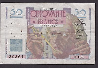 France, 1949 Fifty  Franc banknote,
