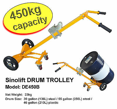 DRUM LIFTER HAND TROLLEY - Move up to 450kg with ease - Heavy Duty - 4 Wheels