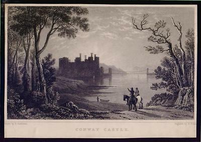 Conway Castle Wales STAHLSTICH ca 1830