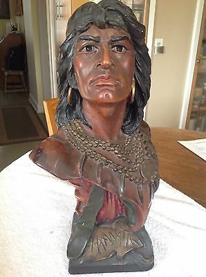 Tobacco Chalk Indian Bust - Circa 1904 - 11 Pounds! Great Look!