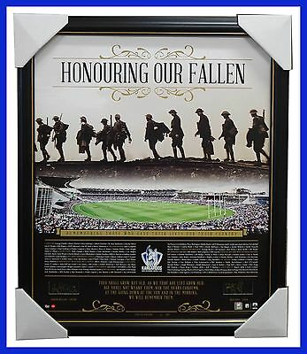 North Melbourne Honouring Our Fallen ANZAC Signed Print Framed Swallow & Scott