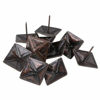 10 x Red Bronze Furniture Decorative Nails Upholstery Tacks Square Studs 30x30mm