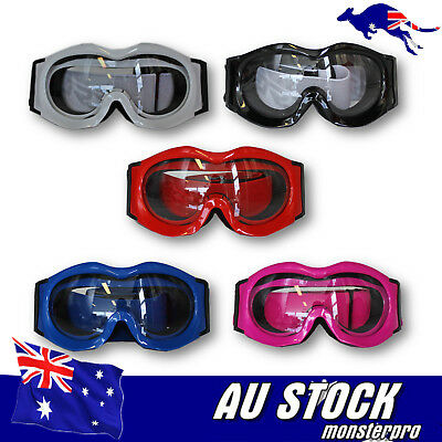 Clear Kids Youth MX Ski sports Goggles *anti-fog* *UV protection* Dirt Quad Bike