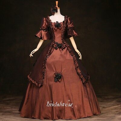 17 18th Century Rococo Baroque Cosplay Costume Marie Antoinette Gown Dresses
