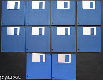 "10x BLANK 3.5"" 720KB FLOPPY DISK DISC DOUBLE SIDED DENSITY DD 10x DSDD FORMATTED"