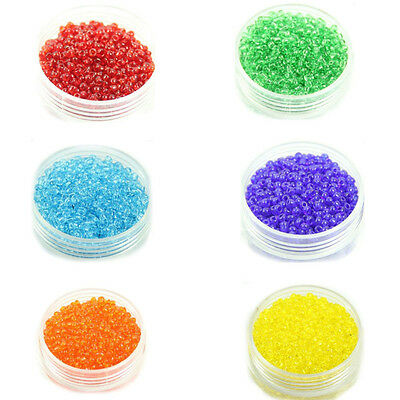 200/500/1000Pcs 7Colors Czech Glass Seed Spacer Beads Jewelry Making DIY 2/4mm