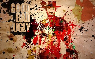 """Clint Eastwood Movie actor Star Silk Cloth Poster 36 x 24"""" Decor 11"""