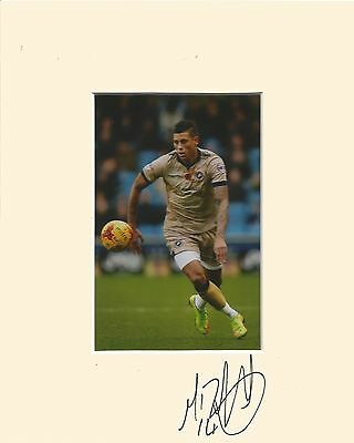 10 x 8 inch mount personally signed by Matthew Briggs of Millwall on 10.01.2015.