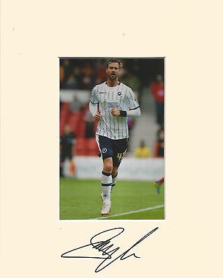 10 x 8 inch mount personally signed by Stefan Maierhofer of Millwall 10.01.2015.