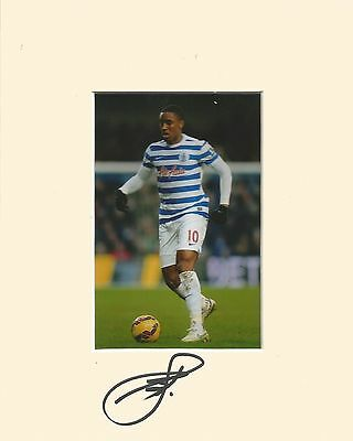 10 x 8 inch mount personally signed by Leroy Fer of QPR on 10.01.2015.