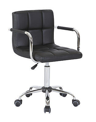 2 Office Swivel Chair PU Leather Computer Desk Chairs Breakfast Salon Bar Stools