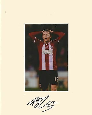 10 x 8 inch mount personally signed by Marc McNulty Sheffield United on 24.01.15