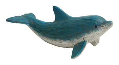 Rustic Looking Dolphin Figurine - Hand carved look