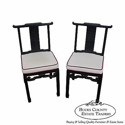 Quality Pair of Vintage Chinese Hardwood Side Chairs