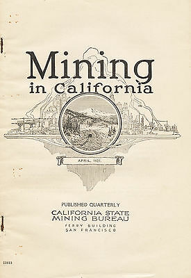 RARE fragile old 1st ed, 300 gold mines, Amador County, Calif., in Mother lode !