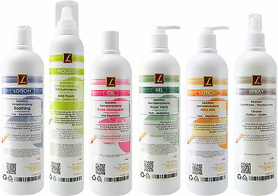 6xEpilation Vor & NachBehandlungs-Lotionen,Waxing Pre- & Post-Treatment Lotions