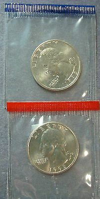 1993- P.+D. Uncirculated Washington Quarters Shipped In Sealed Mint Cellophanes