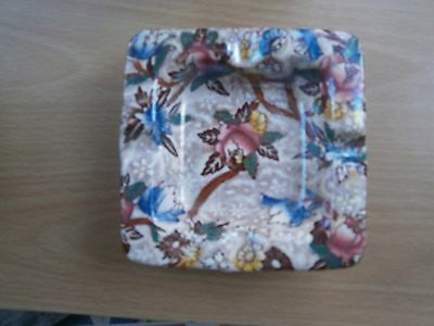 gorgeous maling square ashtray very collectable piece