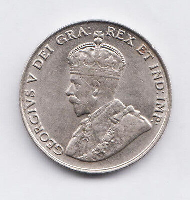 CANADA  1922 Canadian Imperial Crowned Two Leaf Nickel 5 Cents