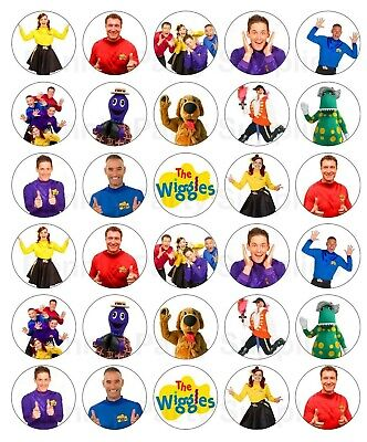 30 x The Wiggles New Generation Edible Cupcake Toppers