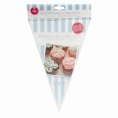 20 Disposable Icing Piping Pastry Bags Cake Tools Sugarcraft Decorating Cupcake