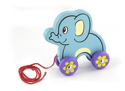 NEW Wooden - Pull Along Elephant from Baby Barn Discounts