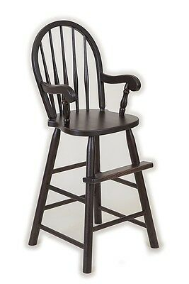 Amish Handmade Oak Toddler Bow Back Booster High Chair Child Childrens Dining