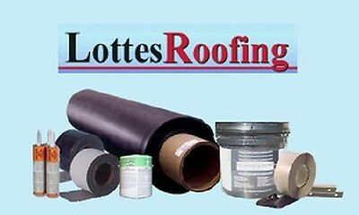 40' X 50' SEAMLESS EPDM Rubber Roof Roofing Kit COMPLETE -2,000 sq.ft.