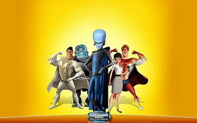 "006 Megamind - Computer Animated Superhero Comedy Film 22""x14"" Poster"