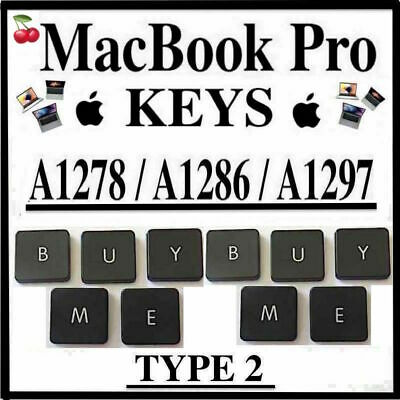  Macbook Pro Keys  Unibody Keys  A1278, A1286, A1297 +  Type 2 Clip 