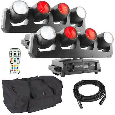 Chauvet DJ Intimidator Wave 360 IRC Moving Head/Yoke LED Pair + Remote + Case