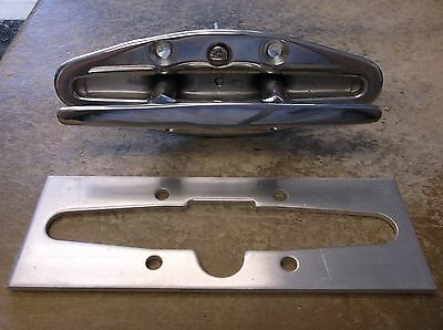"""New Oem Crownline Boat S/s 6"""" Pop Up Cleat With Mounting Bracket 33181"""